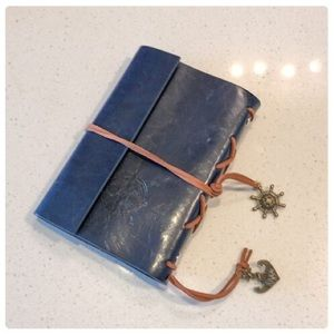 Other - 😎Blue Vegan Leather Nautical Notebook😎